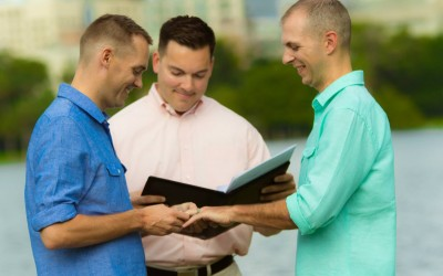 Lake Eola Orlando Florida Gay Wedding 2