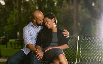 Orlando Cypress Garden Engagement