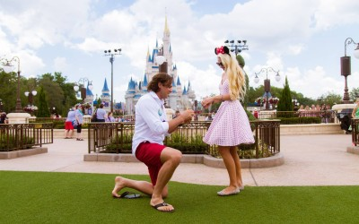 Disney Magic Kingdom Marriage Proposal