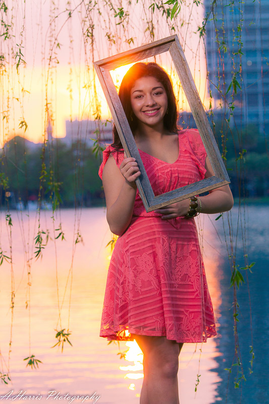 Lake Eola Orlando quinceanera Shoot