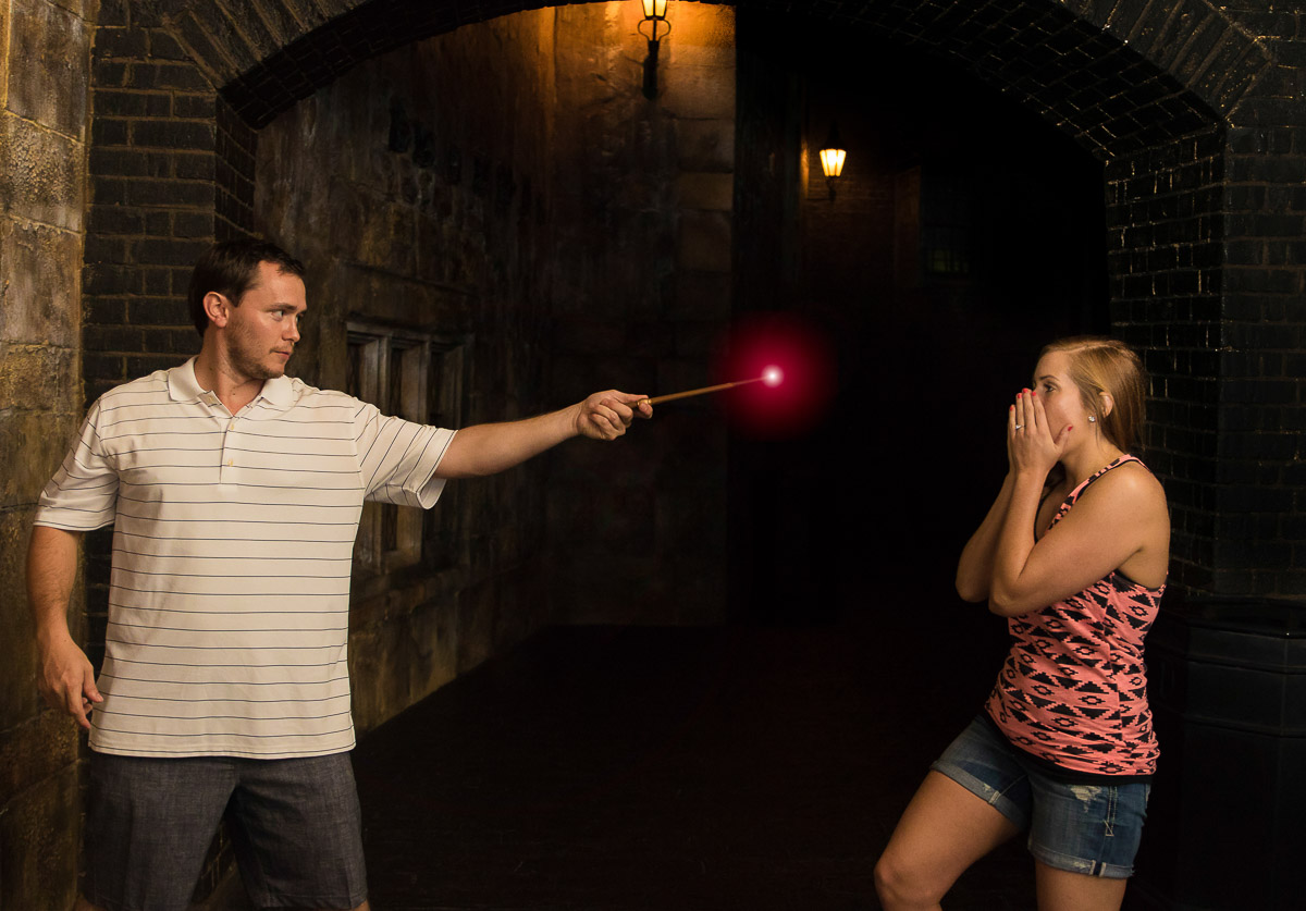 Wizarding World of Harry Potter Surprise Proposal