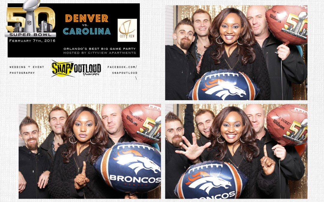 Orlando Photo Booth | City View Apartments 50th Super Bowl Party