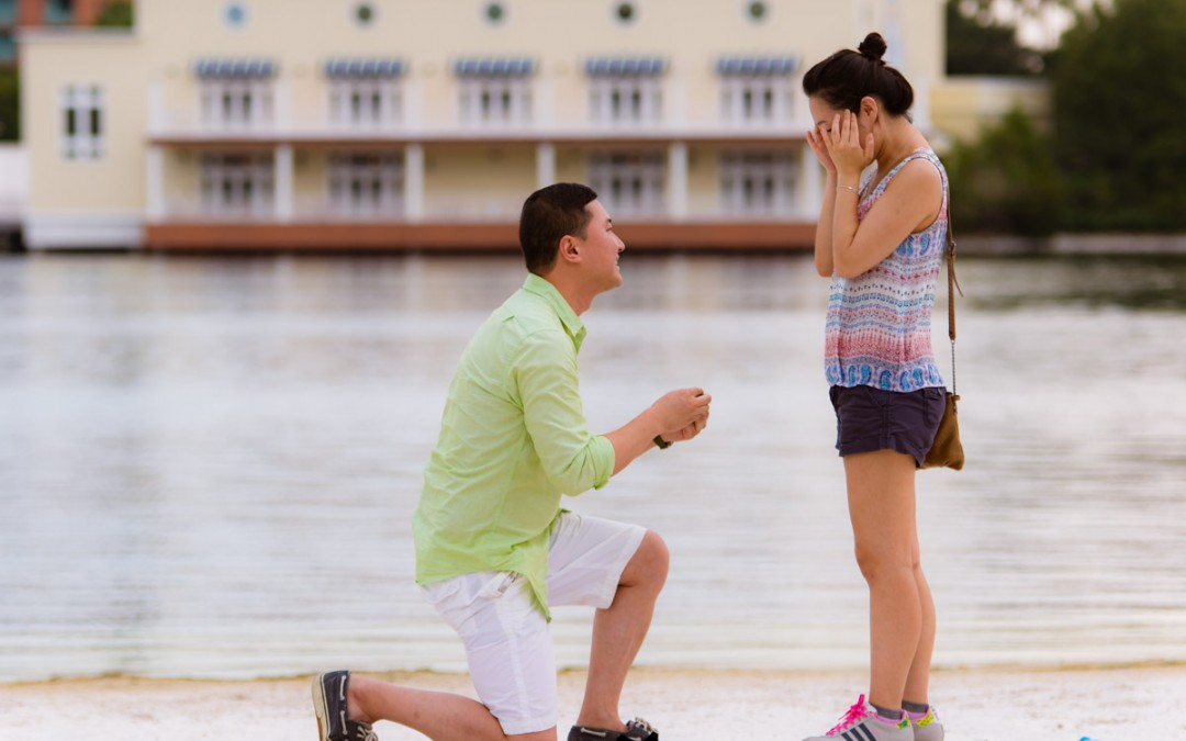 Disney Yacht and Beach Marriage Proposal | Disney World Proposal Photographer