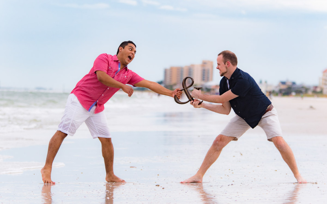 Clearwater Beach Engagement | Jensen and Johnathan | Orlando Same Sex Wedding Photographer