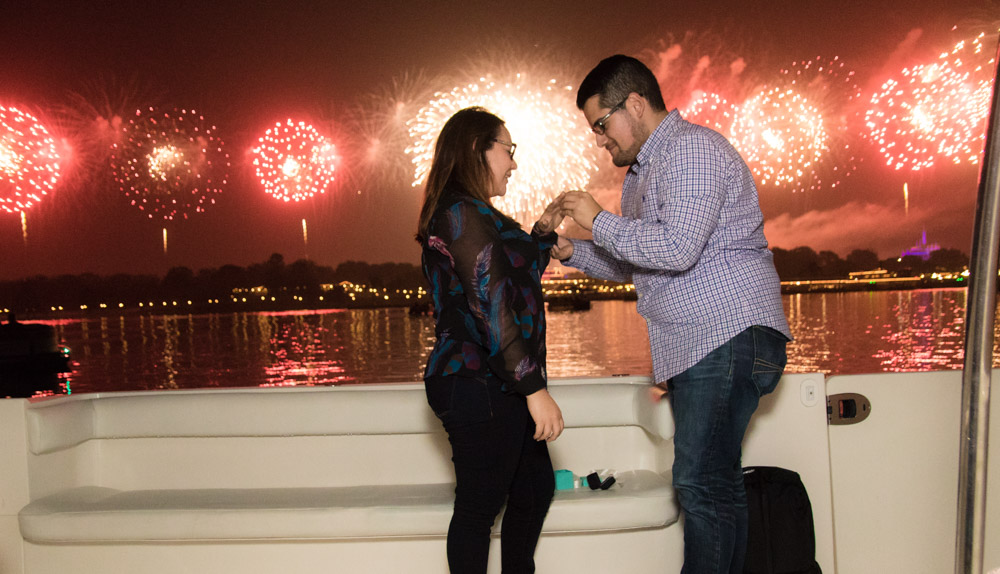 Disney Fireworks Marriage Proposal