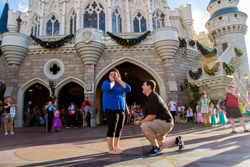 Disney Magic Kingdom Marriage Proposal | Orlando Proposal Photographer
