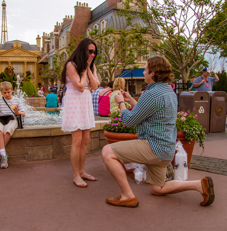 Disney Epcot Marriage Proposal