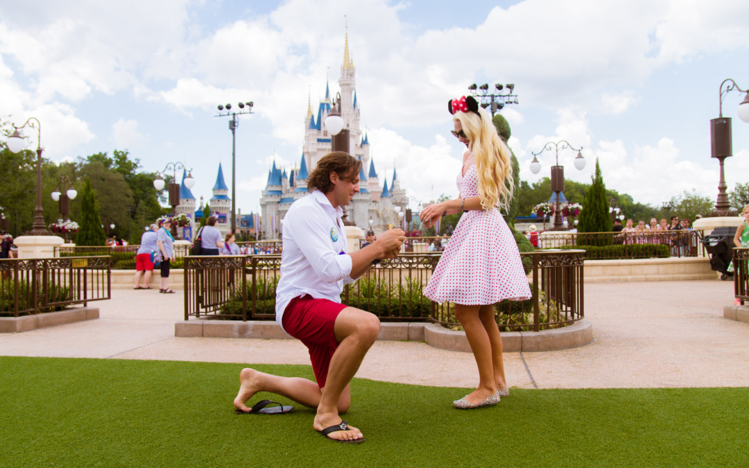 Disney Magic Kingdom Marriage Proposal | Cinderella's Castle |