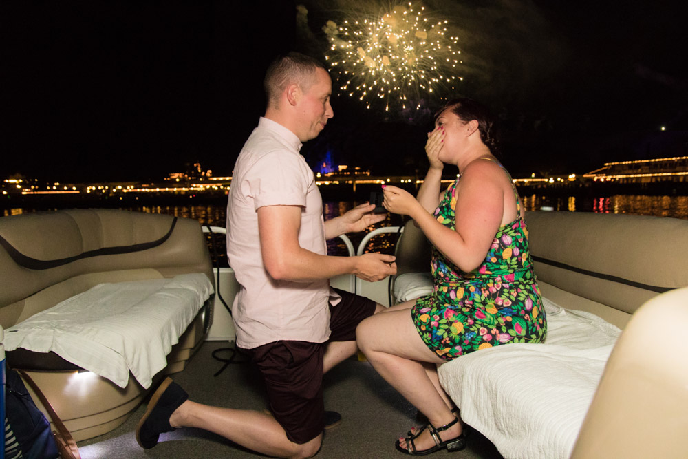 Disney Fireworks Proposal | Orlando Engagement Photographer