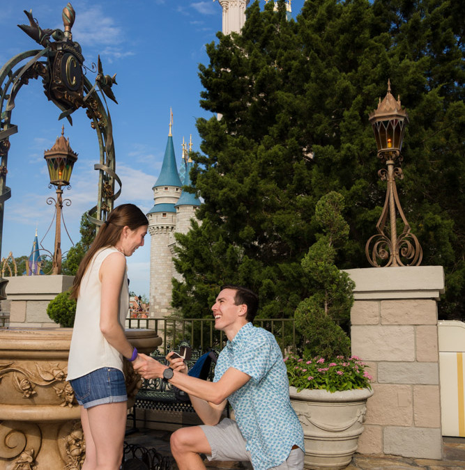 Magic Kingdom Marriage Proposal