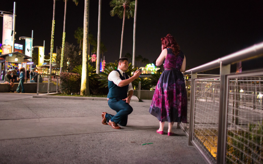 Universal City Walk Proposal | Orlando Engagement Photographer