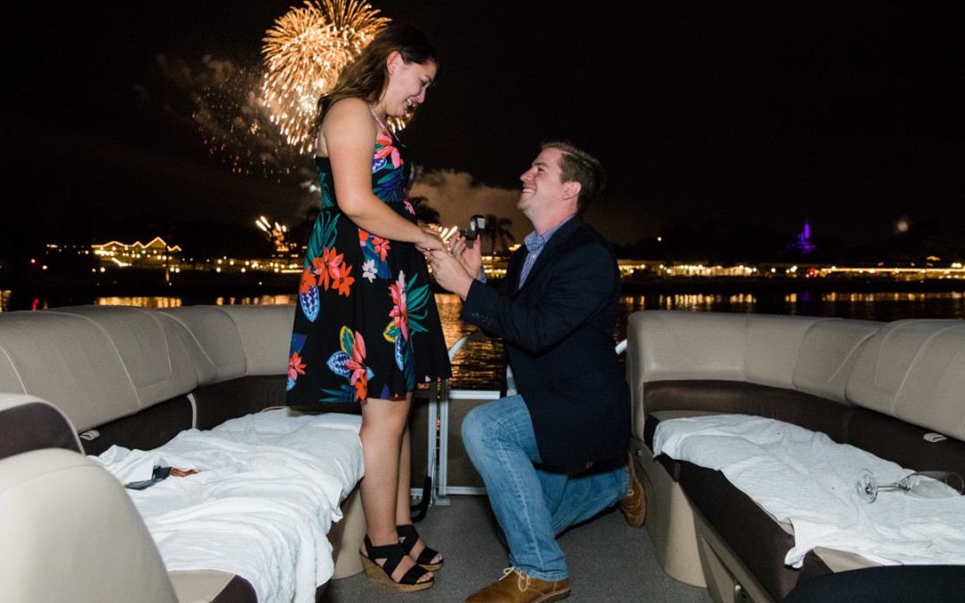 Disney Fireworks Cruise Proposal | Orlando Proposal Photographer
