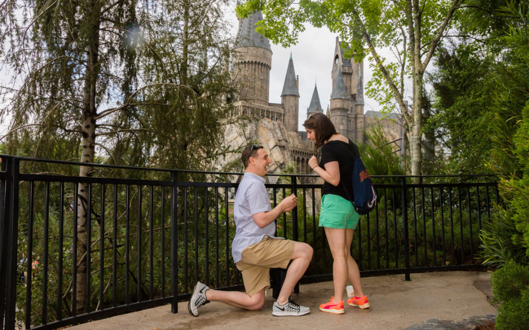 Orlando Proposal Photographer | Wizarding World of Harry Potter