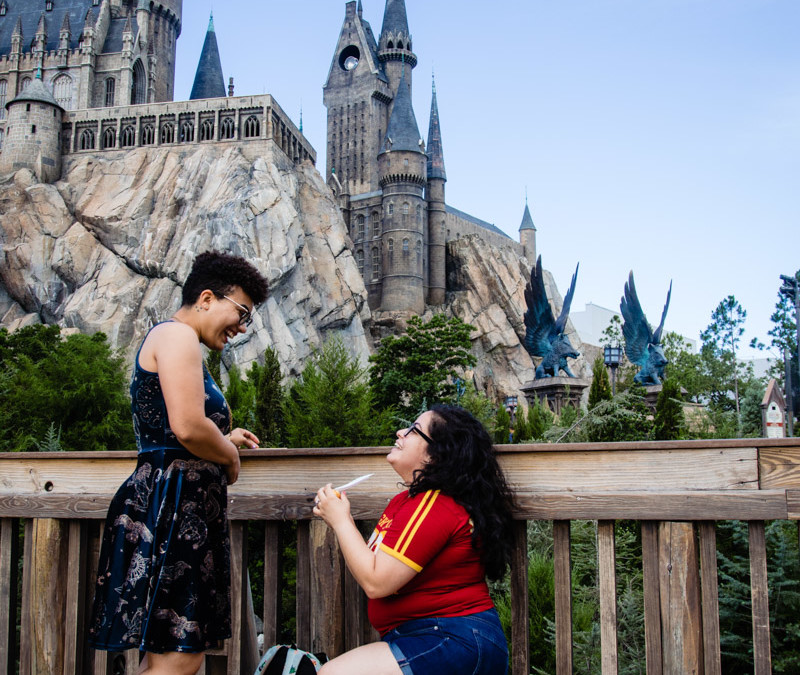 Wizarding World of Harry Potter Proposal | Pride Month| Orlando Proposal Photographer