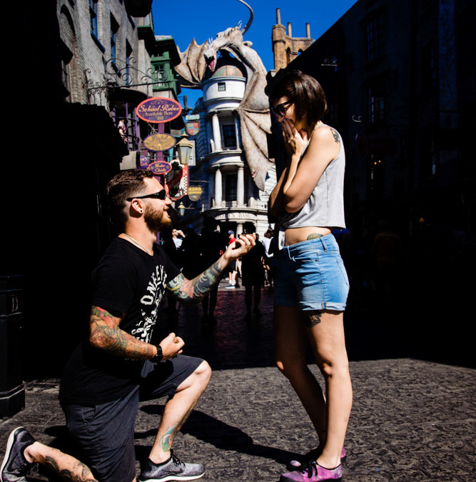 Diagon Alley Proposal | Wizarding World of Harry Potter Proposal