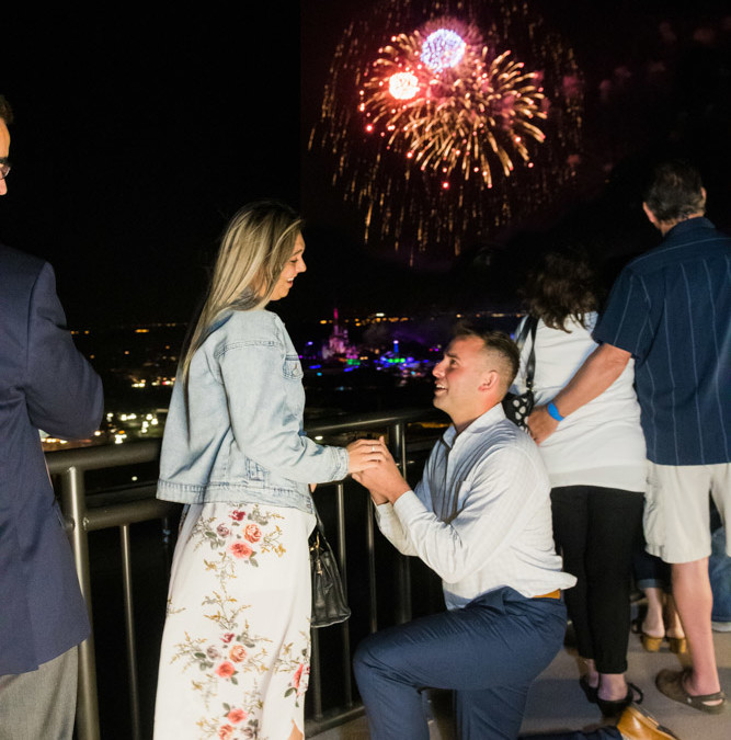 Disney California Grill Proposal | Disney Fireworks Proposal