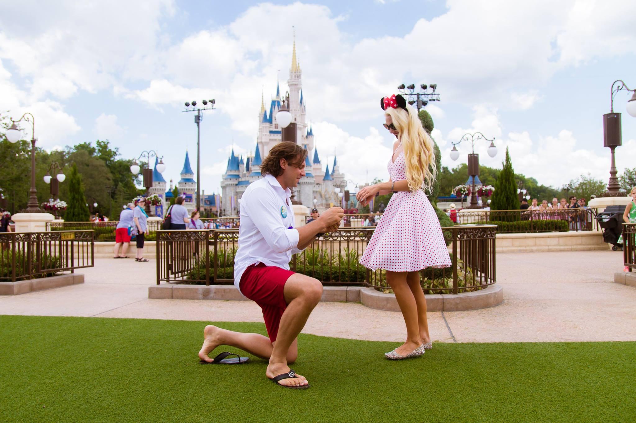Disney Magic Kingdom Marriage Proposal