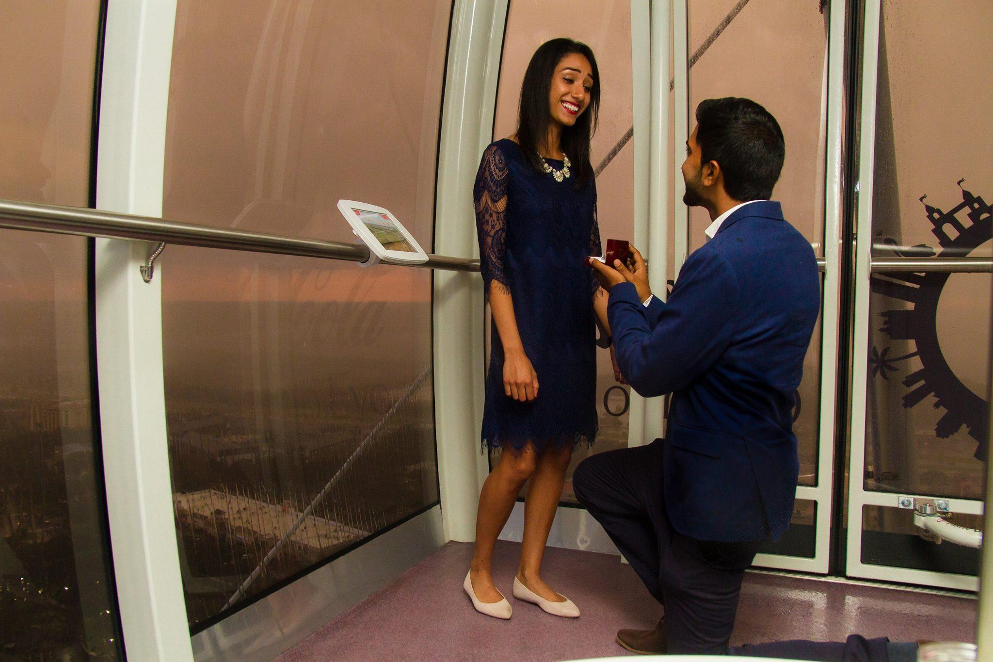 Orlando Eye Marriage Proposal Photographer