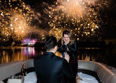 Disney Magic Kingdom Fireworks Cruise Proposal