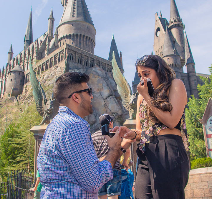 Orlando Surprise Marriage Proposal Wizarding World of Harry Potter