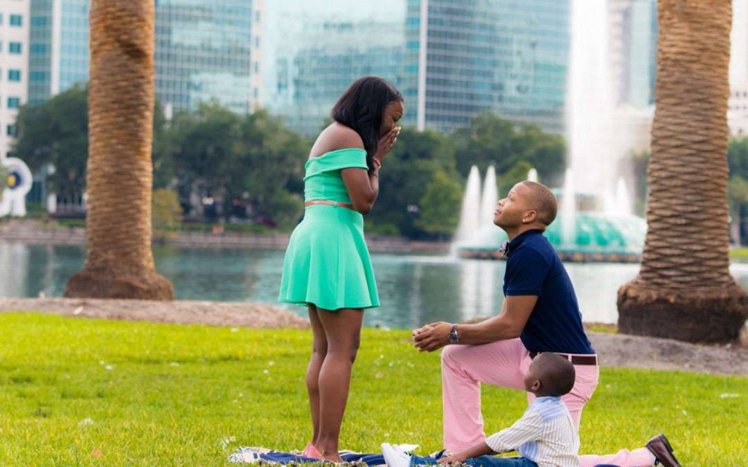 Lake Eola Marriage Proposal