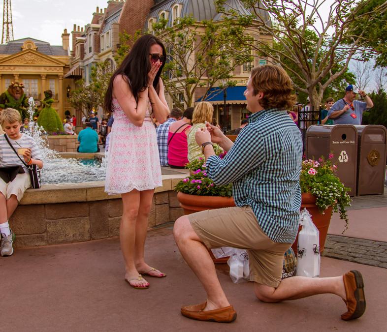 Disney Epcot Marriage Proposal
