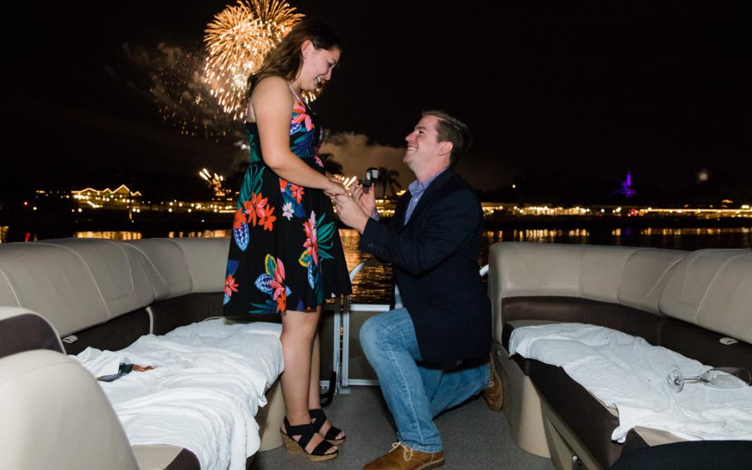 Disney Fireworks Cruise Proposal | Orlando Proposal Photographer