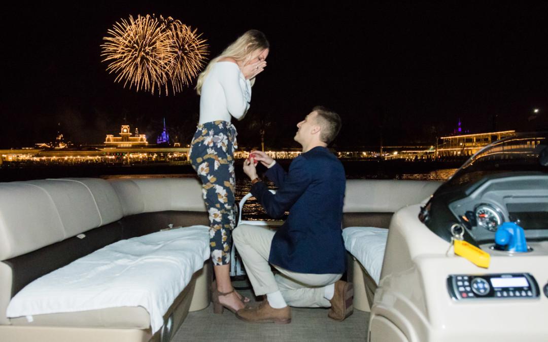 Disney Fireworks Cruise Marriage Proposal | Grand Floridian