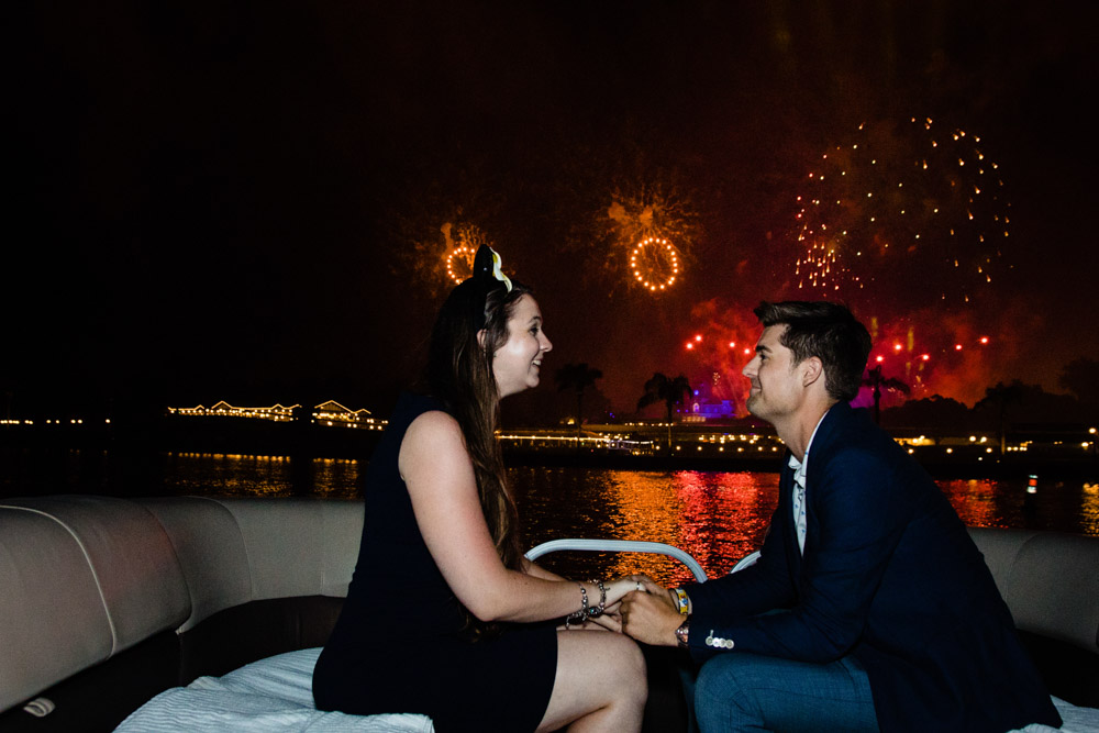 Disney World Fireworks Cruise Proposal