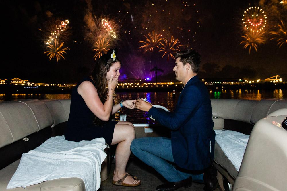 Disney World Fireworks Cruise Proposal | Orlando Proposal Photographer