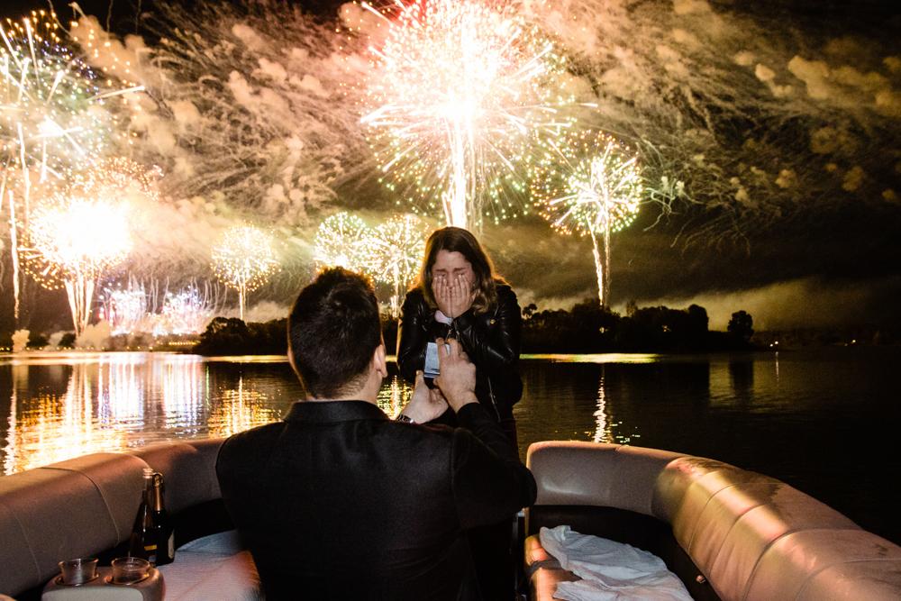 Orlando Proposal Photographer | Disney Magic Kingdom New Years Eve 2020 Fireworks Cruise